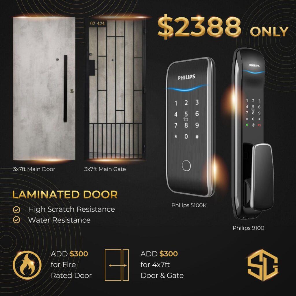Laminated door promotion digital lock phillips 2