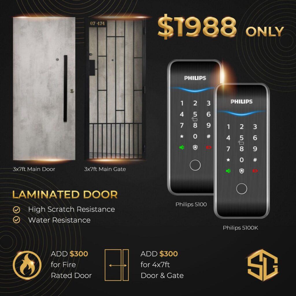 Laminated door promotion digital lock phillips 4