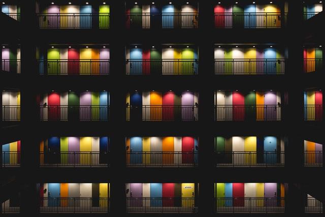 Colourful doors choose HDB main door