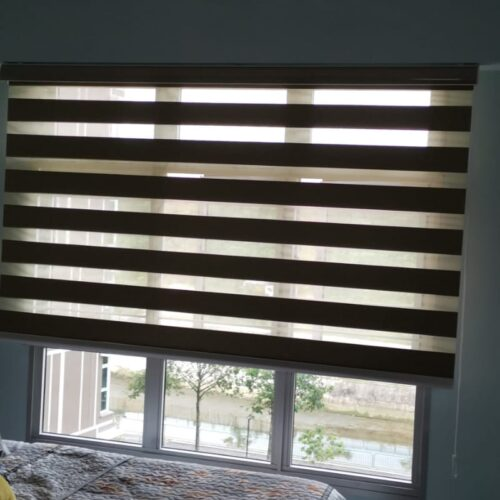 ceiling fan with blinds