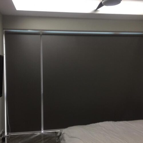 dark curtain and blinds
